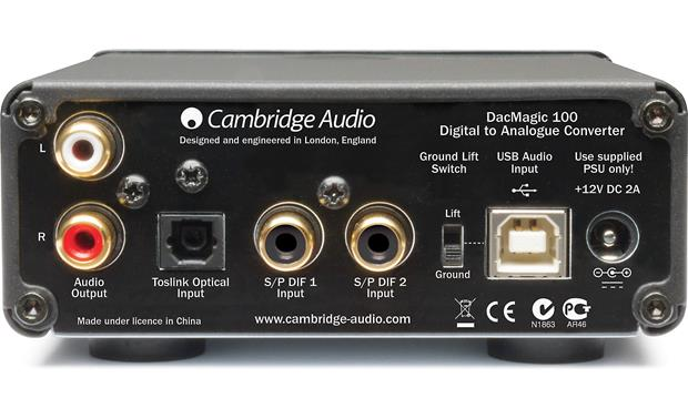 Cambridge Audio DacMagic 100 Back (black)