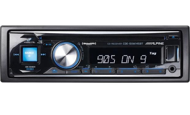 alpine cde sxm145bt cd receiver with free siriusxm satellite radio rh crutchfield ca