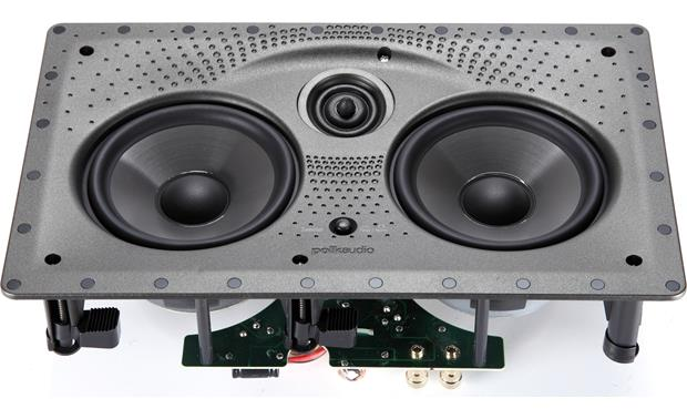 Polk Audio 255c-LS Angled front view (grille removed)