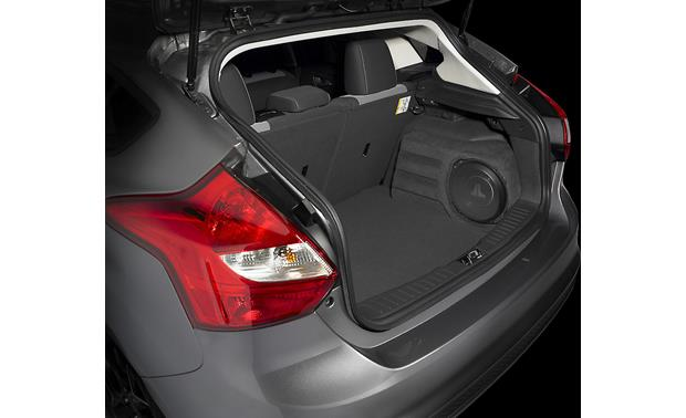 JL Audio Stealthbox® Stealthbox® shown installed in Ford Focus hatchback