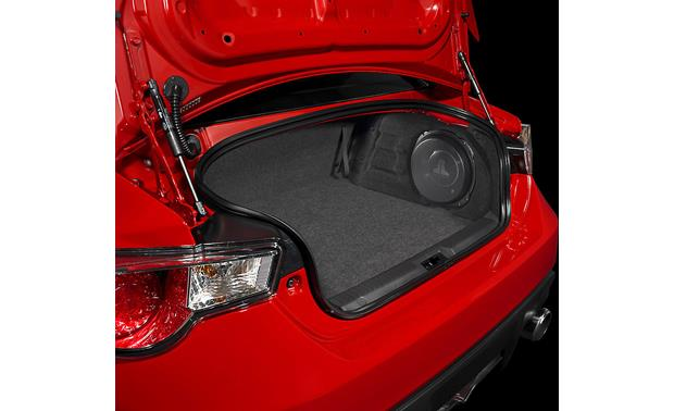 JL Audio Stealthbox® Stealthbox installed in Scion FR-S