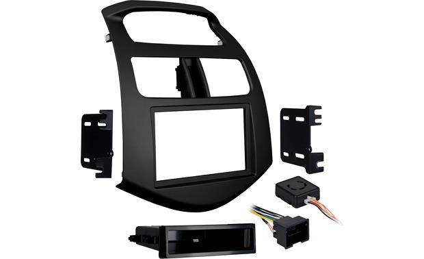 Metra 99-3309B-LC Dash and Wiring Kit Integration adapter package including dash trim pieces, brackets, and wiring adapter