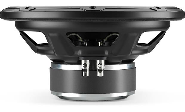 JL Audio 10W1v3-2 Side view exposing quality spring-loaded speaker terminals
