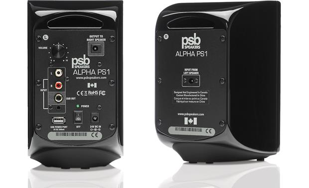 PSB Alpha PS1/SubSeries 100 PS1 speakers (back)