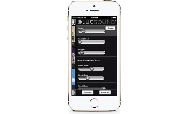 Bluesound Pulse Bluesound's free smartphone app lets you control Bluesound speakers in multiple rooms