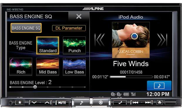 Alpine INE-W957HD See your album artwork and song info with plenty of detail