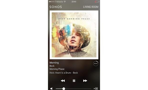 Sonos Connect The free Sonos app for smartphones (Apple version shown)