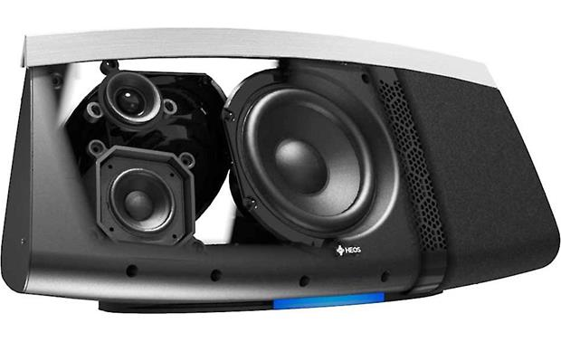 Denon HEOS 7 Cutaway view of drivers (Black)
