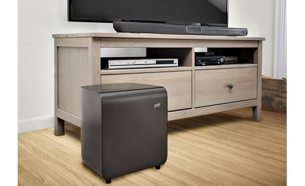 Polk Audio MagniFi Sound Bar™ Wireless subwoofer allows easy, flexible placement
