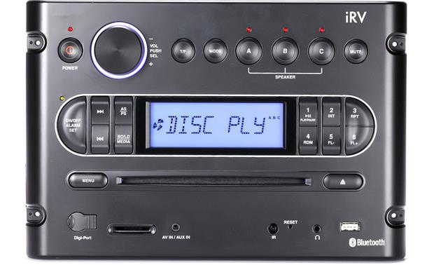 iRV iRV6500BT A wealth of inputs make this receiver a great choice as an entertainment center in your RV.