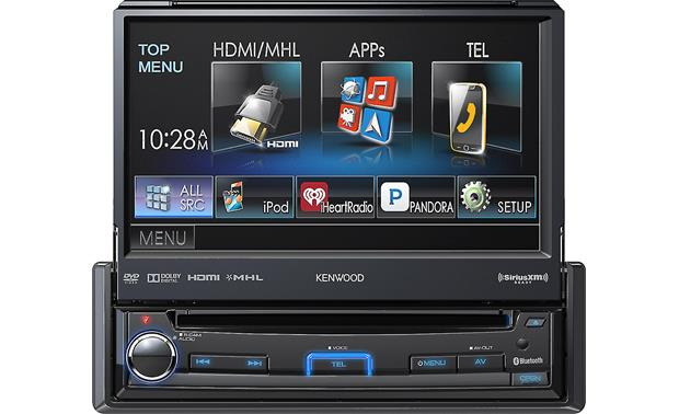 Kenwood KVT-7012BT Flip out the screen and get touchscreen controls over all your media