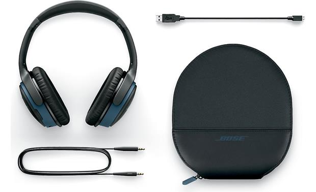 Bose® SoundLink® around-ear wireless headphones II Included accessories and carrying case