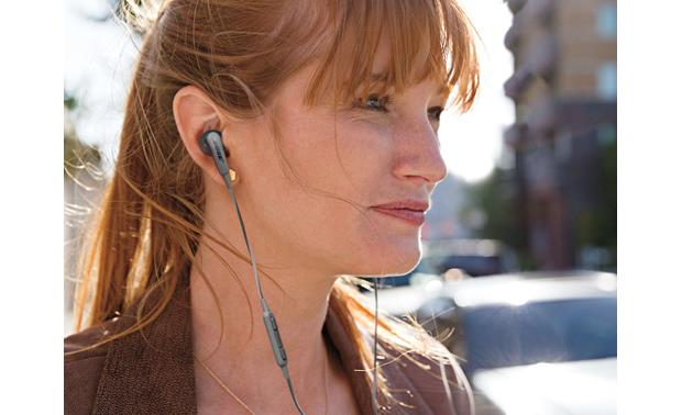 Bose® SoundSport® in-ear headphones StayHear® tips fit comfortably in your ear