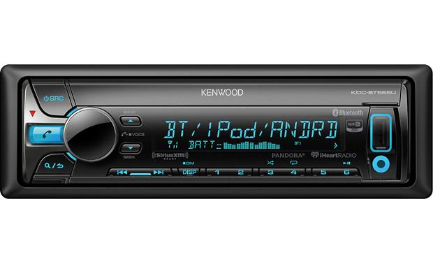 Kenwood KDC-BT565U Kenwood offers controls for Pandora, iHeartRadio, SiriusXM, and Bluetooth with aptX