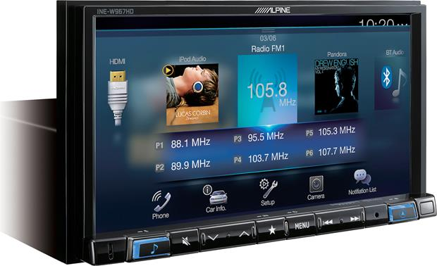 Alpine INE-W967HD Choose your sources with ease.