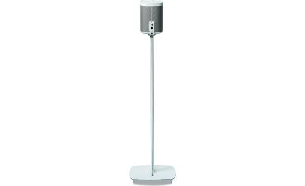 Flexson Floor Stand (pair) White - back view (Sonos PLAY:1 not included)