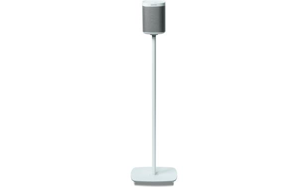 Flexson Floor Stand (pair) White - front view (Sonos PLAY:1 not included)