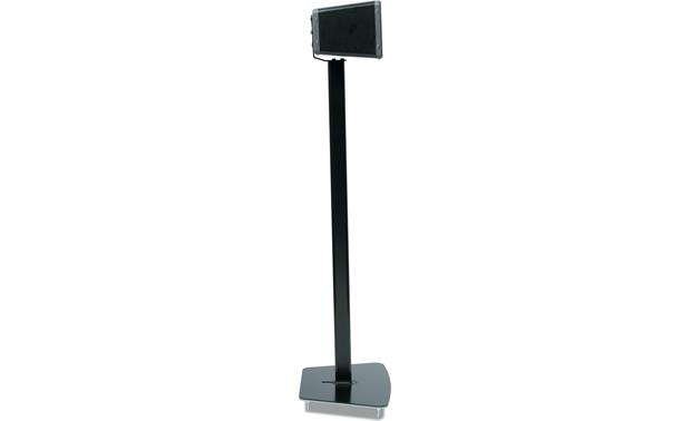 Flexson Floor Stand Black - profile with speaker set horizontally (Sonos PLAY:3 not included)