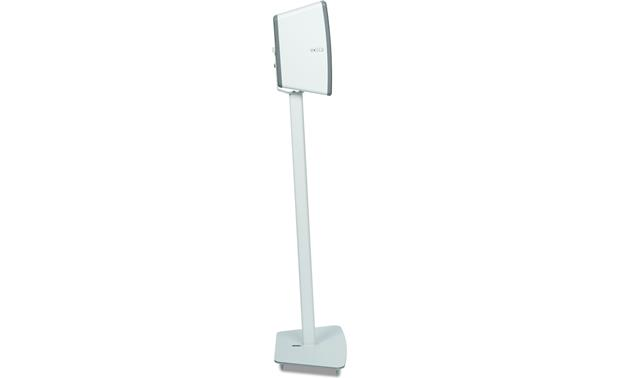 Flexson Floor Stand White - profle with speaker set vertically (Sonos PLAY:3 not included)