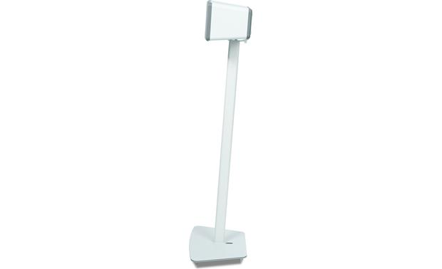 Flexson Floor Stand White - profile with speaker set horizontally (Sonos PLAY:3 not included)