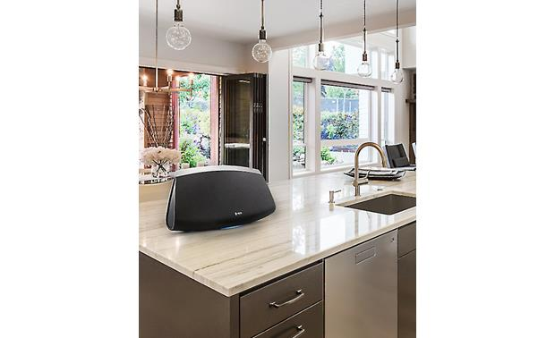 Denon HEOS 7 In kitchen setting (must be plugged into an AC outlet)