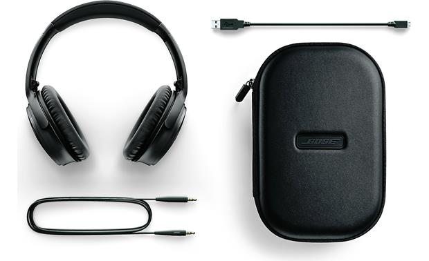 Bose® QuietComfort® 35 Acoustic Noise Cancelling® wireless headphones Included case and accessories