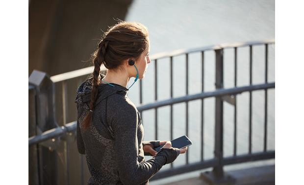 Bose® SoundSport® wireless headphones Built-in Bluetooth lets you listen to music and make calls wirelessly