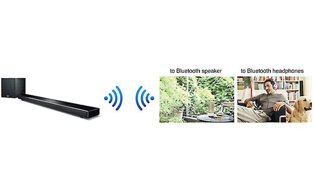 Yamaha YSP-2700 Digital Sound Projector 2-way Bluetooth lets you send audio to a pair of Bluetooth headphones