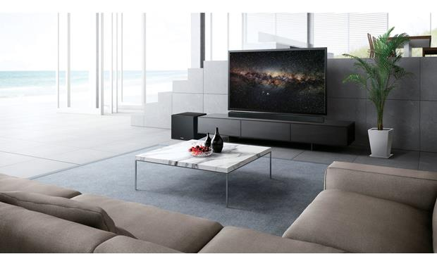 Yamaha YSP-2700 Digital Sound Projector Fits cleanly into your TV setup
