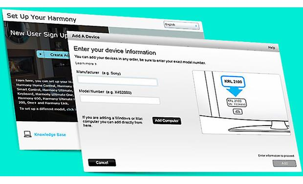 Logitech® Harmony® 950 The free MyHarmony site lets you program your remote online