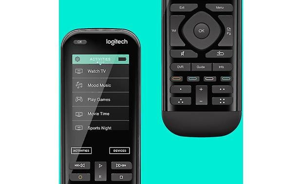 Logitech® Harmony® 950 Screen and control button detail