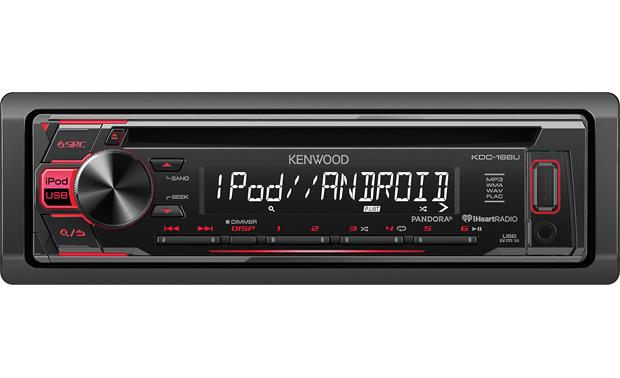 Kenwood KDC-168U This budget-friendly receiver includes a USB port to work with your iPhone, Android, and flash drives