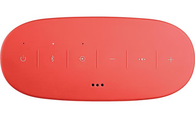 Bose&reg; SoundLink&reg; Color <em>Bluetooth&reg;</em> speaker II Coral Red - top-mounted control buttons