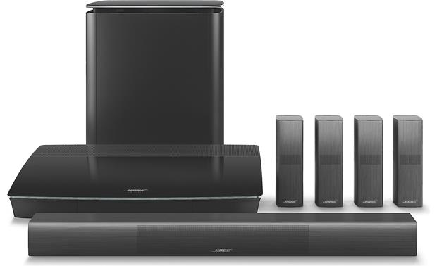 Bose® Lifestyle® 650 home theater system The best Bose® home theater system features omnidirectional OmniJewel® speakers for 360-degree sound