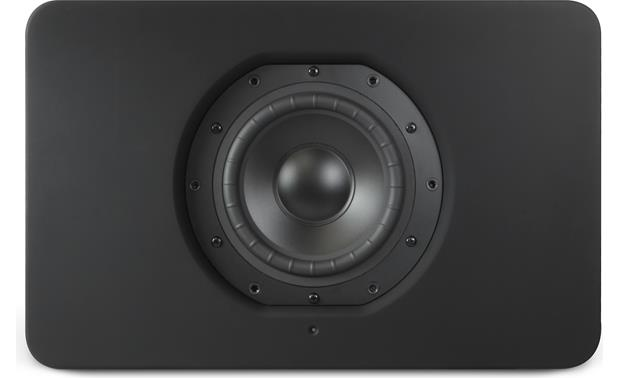 Bluesound Pulse Sub Black - front view, grille off