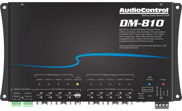 AudioControl DM-810 Front