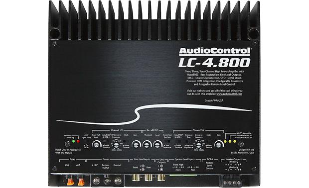 AudioControl LC-4.800 Comprehensive sound controls let you dial in the output.