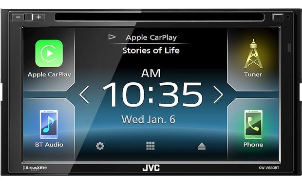 JVC KW-V830BT Choose Apple CarPlay or Android Auto to get your smartphone seamlessly integrated in your vehicle
