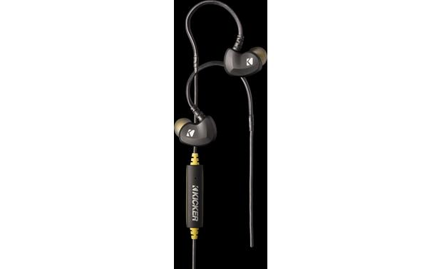 Kicker EB300 Cables wrap around your ears for comfort and security