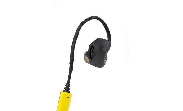 Kicker EB300 Micro USB port on right earpiece snaps shut when not in use