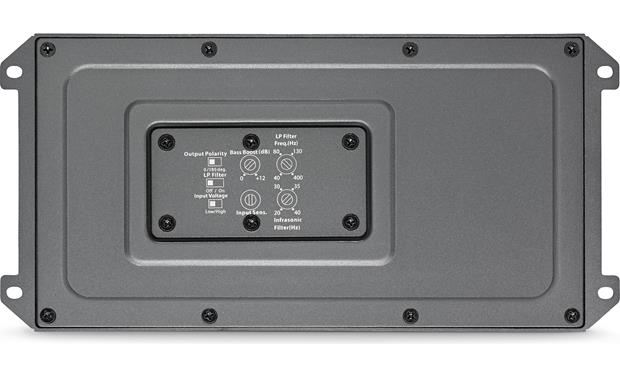 JL Audio MX500/1 A sealed cover protects the controls