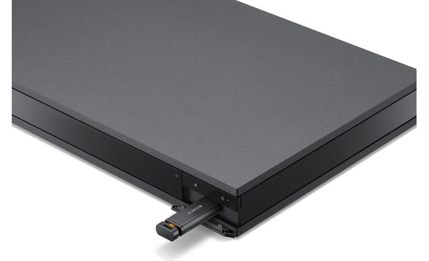 Sony UBP-X800 Front-panel USB port can play high-resolution digital music files from a thumb drive (not included)