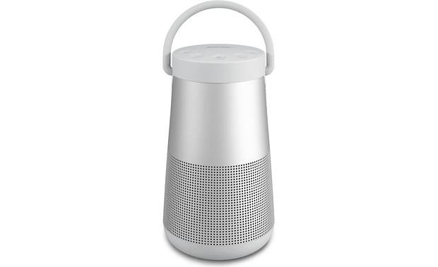 Bose® SoundLink® Revolve+ <em>Bluetooth®</em> speaker Lux Gray - with handle extended