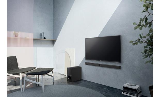 Sony HT-CT290 Shown with bar wall-mounted
