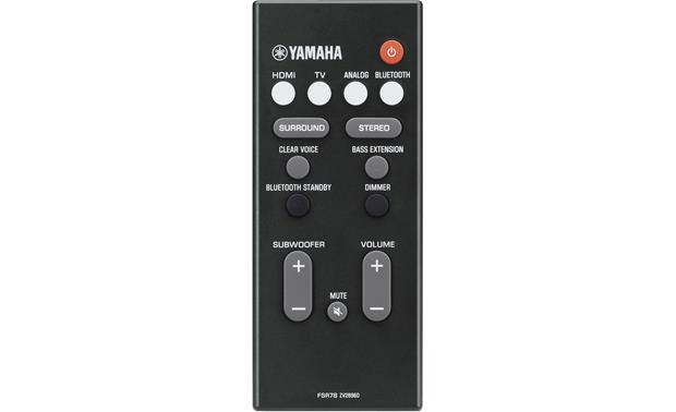 Yamaha YAS-207 Remote with subwoofer control