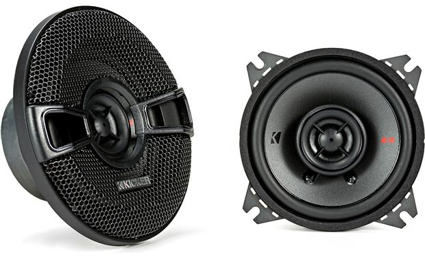 Kicker 44KSC404 The little giants handle up to 50 watts RMS.