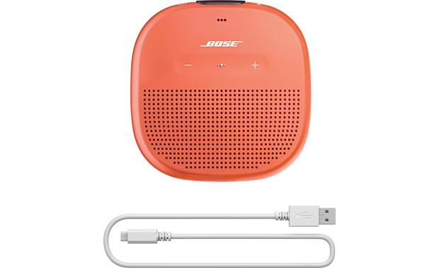 Bose® SoundLink® Micro <em>Bluetooth®</em> speaker Orange with Purple strap - charging cable included