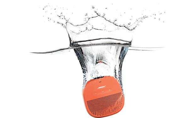 Bose® SoundLink® Micro <em>Bluetooth®</em> speaker Orange with Purple strap - waterproof