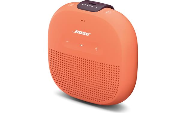 Bose® SoundLink® Micro <em>Bluetooth®</em> speaker Orange with Purple strap - right front