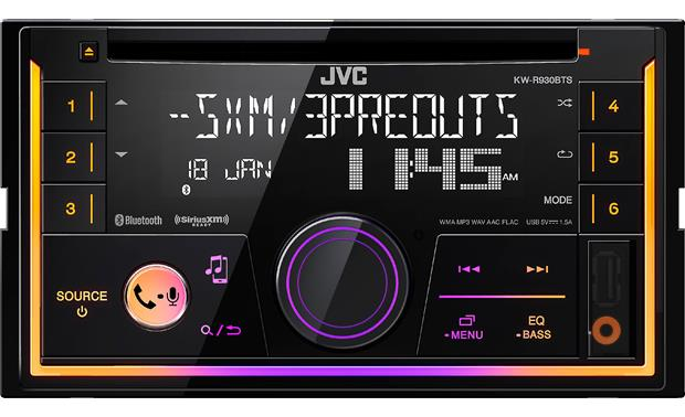 "JVC KW-R930BTS This 4"" tall jukebox gives you lots of music options in your dash"